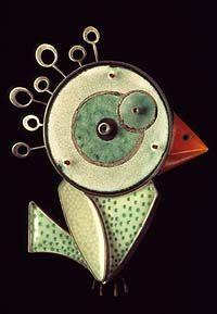 """Faniful 3 Circle American Waltham""-L&S; Bird Jewelry, Enamel Jewelry, Jewelry Art, Jewelery, Jewelry Design, Insect Jewelry, Contemporary Jewellery, Modern Jewelry, Vintage Jewelry"