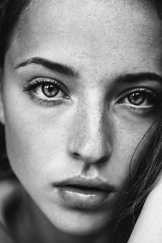 Beautiful freckled girl photography black and white beautiful girl freckles