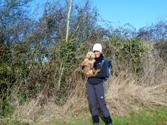 Just me and my dog Dave on our walk- muddy belly and all :)