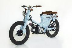 "Honda ""The Little Blue"" by Deus Ex Machina - Lsr Bikes Honda Cub, Bagger Motorcycle, Motorcycle Types, Deus Ex Machina, Cool Motorcycles, Mini Bike, Bike Design, Custom Bikes, Custom Bobber"
