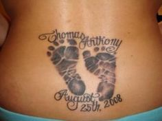 Image detail for -The baby footprints are a popular tattoo design that you can have in ...