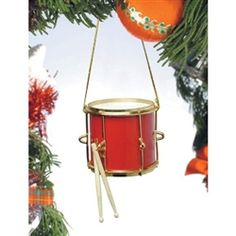 Red Marching Drum Tree Ornament #hiddentreasuresdecorandmore