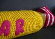 Coussin Carambar crochet