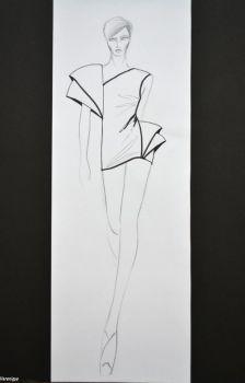 My sketch- Black, White, Form 4. by Verenique