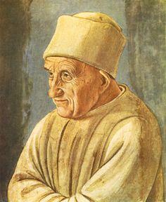 Fra Filippo Lippi. Portrait of an Old Man (1485). Detached fresco, 47 x 38 cm. Galleria degli Uffizi, Florence