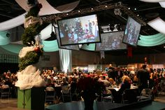 A Christmas show in one of the OCC's Exhibit Halls