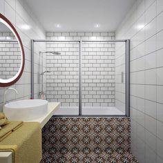 Светлая квартира с элементами лофта. Ванная