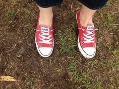 My friend Emily's cute red Converse Chucks!
