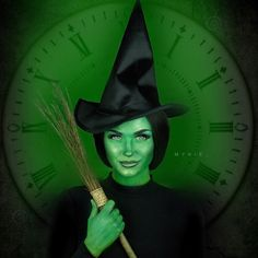 """If you guessed Elphaba from Wicked, you are correct! The tutorial IS NOW UP! The link is in my bio, or search youtube for """"Glam&Gore"""". Products: Green aquapaint @sugarpill pro palette """"midori"""" to set everything, """"tako"""" and """"mint soda"""" loose shadow for highlighting @hairhegoes custom wig, hair provided by @powderroomd @nyxcosmetics """"Cold Hearted"""" WICKED Lippie, hehe. @pinkyparadisedotcom geo princess Mimi apple green contacts @makeupgeekcosmetics """"corrupt"""" for contour @eldorafalseeyelashes in…"""