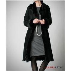 毛皮 スウェード・ロングコート 高級感なレディースモダンファッション 2014 新作