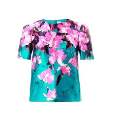 Prabal Gurung Painted lily-print blouse (10 990 SEK) found on Polyvore