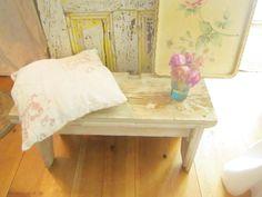A  Shabby chic Chippy white bench    farmhouse cottage romantic vintage shabby chic prairie by Vintagewhitecottage on Etsy