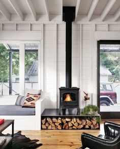 simple living room with tv ideas black small over fireplace design and cabin dining farmhousepact backyard. modern farmhouse living room with grey walls and red brick fireplace – hello lovely… Scandinavian Fireplace, House Design, Farmhouse Decor Living Room, Farm House Living Room, House, Wood Stove Hearth, New Homes, Farmhouse Fireplace, House Interior