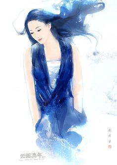Ink girl by hiliuyun.deviantart.com on @deviantART