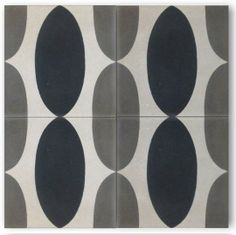 50's manhattan in gray, white & black from Cle Tile cement tile for kitchens, bathrooms and more.