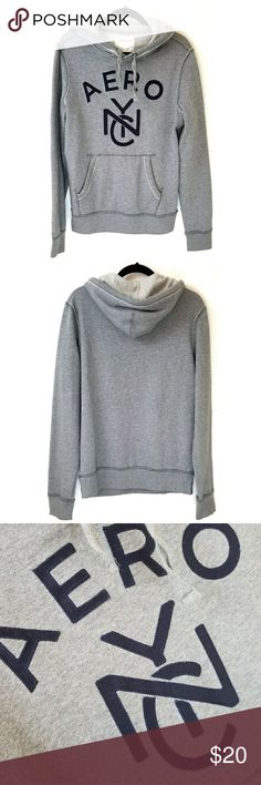 Aeropostale NYC Gray Hoodie Aeropostale, gray with navy writing, excellent like new condition, size small. Aeropostale Shirts Sweatshirts & Hoodies