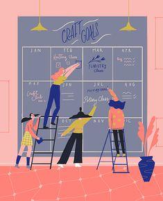 In the Moment Mag — Elda Broglio Medicine Illustration, Graphic Illustration, Vector Design, Graphic Design, Feeling Happy, Typography Design, Snake Gif, Illustrators, Character Design