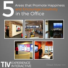 5 Areas that Promote Happiness and Encourage Creativity in the Office