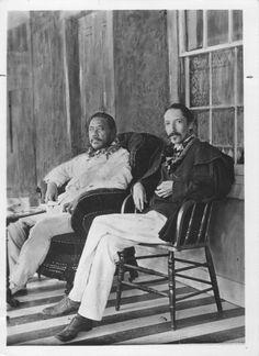 Kalakaua, King of Hawaii, 1836-1891 and Robert Louis Stevenson (1850-1894). PHOTO circa 1889