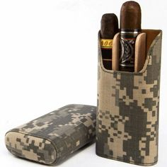 Brizard & Co US Army Military Pattern Showband Cigar Case