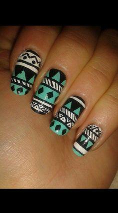 Love tribal nail art!!! nail art summer nail ideas