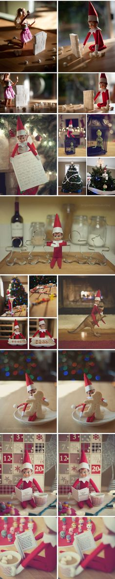 Elf on the Shelf – Collage of ideas from 2011   Snippets from Suburbia