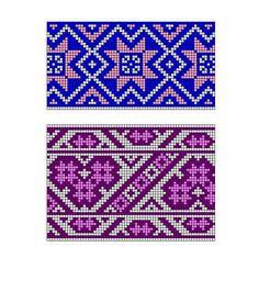 "Photo from album ""Скандинавские узоры"" on Yandex. Tapestry Crochet Patterns, Bead Loom Patterns, Crochet Stitches Patterns, Weaving Patterns, Crochet Chart, Cross Stitch Patterns, Crochet Wallet, Crochet Purses, Mochila Crochet"