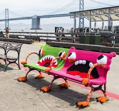 sf-ferry-building-yarnbomb-1 make sciyt project for playground xcheck froup free lumver and palet  free  check free newaper g list