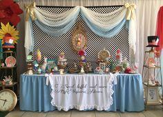 Alice in wonderland sweet buffet by Yajaira Nieves
