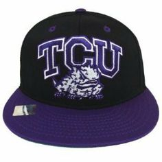 TCU Horned Frogs Logo Retro Snapback Cap Hat 2 Tone Black Purple . $19.99. Brand new snapback cap. Embroidered team logos. Snapback design. One Size Fits Most.