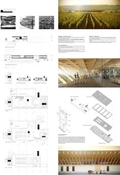 Results of the Wine Culture Centre Competition : Results of the Wine Culture Cen. - Results of the Wine Culture Centre Competition : Results of the Wine Culture Centre Competition - Design Presentation, Architecture Presentation Board, Architecture Board, Landscape Architecture, Interior Architecture, Presentation Boards, Japanese Architecture, Architecture Portfolio, Romanesque Architecture