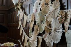 Instead of coffee filter flowers, book pages?
