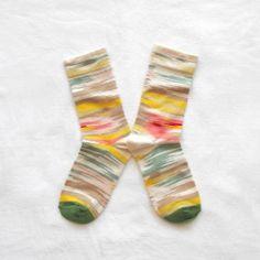 Multicolor Ikat socks by Bonne Maison