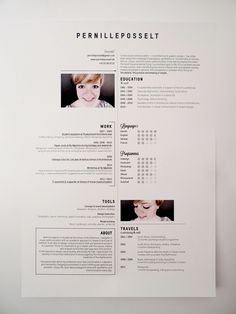 Great Resume Style That Has A Young Clean Hip Feel To It Layout