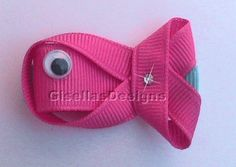 Fish Ribbon sculpture bow / Fish hair clip/ Customize your own fish hair bow/ many colors to choose from.. $6.95, via Etsy.