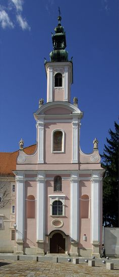 Church in #Varazdin Croatia. Varazdin is known mainly for its baroque buildings, textile, food and IT industry.
