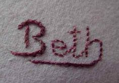 Hand embroidery for beginners - stitch a name
