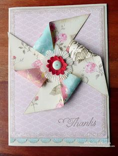 michelles card classes - pin wheel