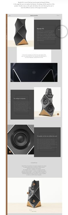Bang & Olufsen Website on Behance