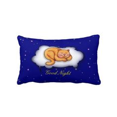Sleeping Kitty Throw Pillow by elenaind