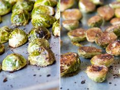 Roasted Brussels Sprouts with Balsamic Vinegar- Try it even if you don't like Brussels Sprouts! Yum!