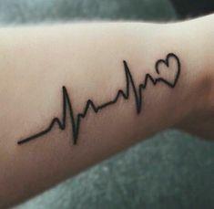Heartbeat EKG tattoo