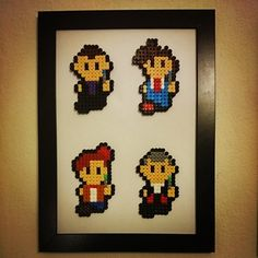 Doctor Who perler beads (9th,10th,11th an 12th doctors) by schudelpudel