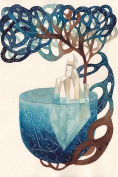 Blue Universe by Gemma Capdevila - canvas print