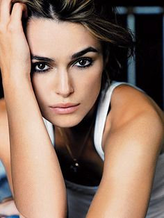 Keira Knightley - I usually can't stand her, but there's no denying the betch has good bone structure