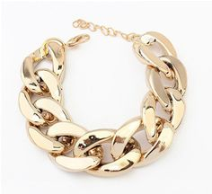 Fashion classic all-match Sunshine jewelry sotre fashion punk CCB chain chunky bracelets & bangles