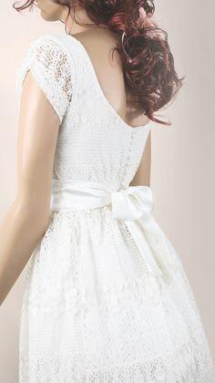 Ivory romantic bridesmaid / evening / lace by UpToDateFashion, $49.99