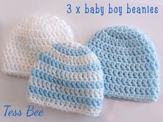 Premature Baby Hats 3 NICU Hats Triplets Hats Tiny Baby   Etsy Baby Boy Beanies, Boys Beanie, Baby Hats, Preemie Babies, Premature Baby, Twin Babies, Third Baby, Crochet Round, Newborn Baby Gifts