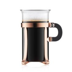 Brew your own flavorful French press with this classic Bodum design, finished with an eye-catching copper hue. Cappuccino Coffee Maker, Brew Your Own, Copper Glass, Chambord, Espresso Cups, Jar Storage, French Press, Chrome Finish, Colored Glass