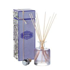 Lavender Fragranced Diffuser - Inspired by the secret gardens of Portugal, this Castelbel diffuser has an exquisitely bright floral scent reminiscent of lavender flowers in the summers. By placing the rattan sticks into the liquid infusion the fragrance is drawn up and gently released throughout the room.#INVHome #LuxuryHomeDecor #InteriorDesign #RoomDecor #Decorations #Decor #INVHomeLinen #Tableware #Spa #Gifts #Furniture #LuxuryHomes #Spa #RoomFresheners